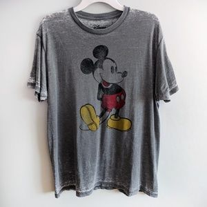 Mickey Mouse Distressed Burnout Graphic Tee